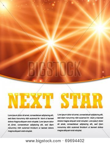 star glowing background template