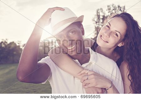 Portrait Of Girl And Boyfriend