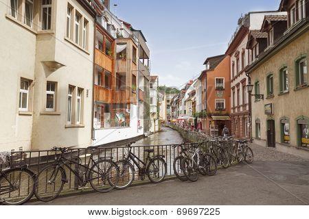FREIBURG IM BREISGAU, GERMANY - AUGUST 6, 2014: Area