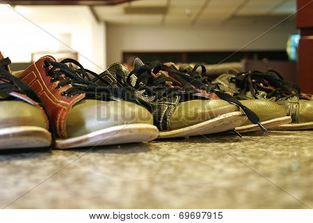 Bowling Shoes Lined Up