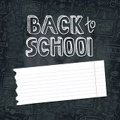 image of drow  - Back to School Supplies Sketchy chalkboard Doodles  lettering with  Swirls - JPG