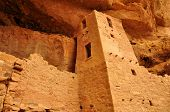 pic of cortez  - View of Mesa Verde Cliff Palace Colorado USA - JPG