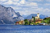 stock photo of lagos  - beautiful lago di Garda - JPG