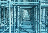 foto of scaffold  - Scaffolding On A Construction Site - JPG