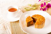 image of mid autumn  - Chinese moon cake  - JPG