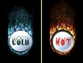 Hot Cold Fire Ice Buttons