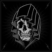 stock photo of reaper  - The Reaper in Old school Tattoo Style Vector - JPG