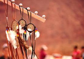 picture of sorcerer  - Native Navajo Dreamcatcher Monument Valley Arizona USA - JPG