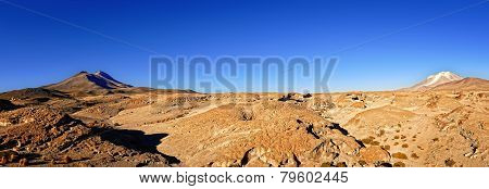 Bolivia Altiplano Volcanos Panorama