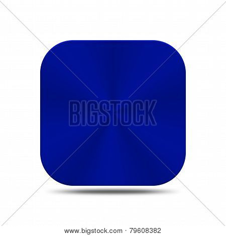 Metal Blue Button Icon Isolated