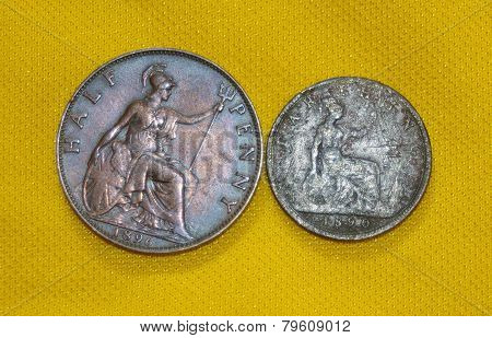British Half Penny & Farthing.