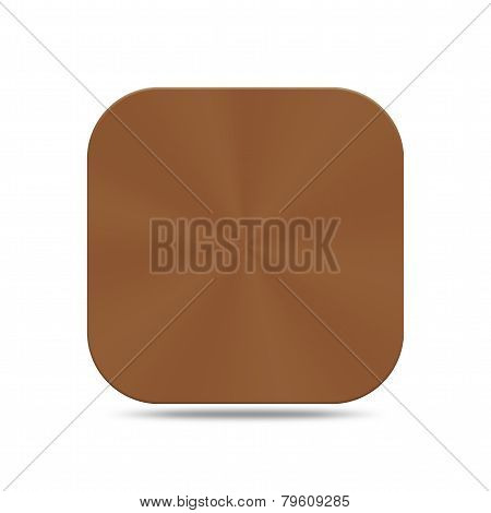 Copper Button Icon Isolated