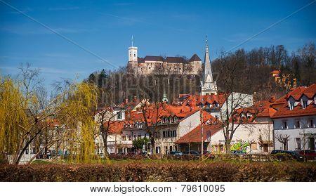 Ljubljana, urban landscape, Slovenia
