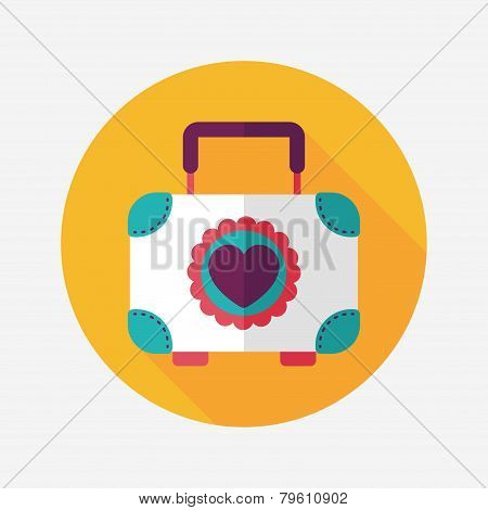 Wedding Box Of Cookies Flat Icon With Long Shadow,eps10