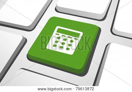 Computer Key : Calculator Icon Vector