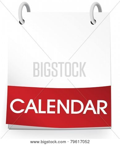 Calendar Blank 2014 Vector