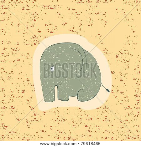 Children Print. Funny Elephant.