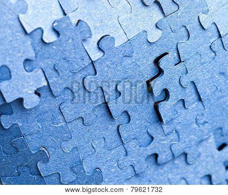 Backside Of Blue Puzzle Jigsaw