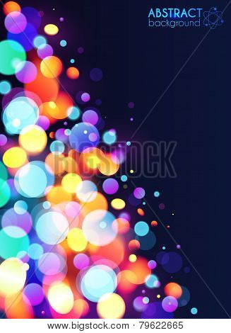 Bright colorful bokeh light effect abstract background