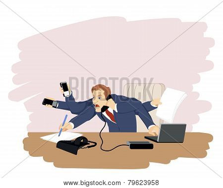 Businessman At Working Place
