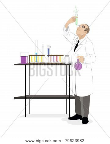 Scientist With Test-tube