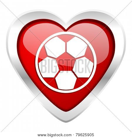 soccer valentine icon football sign