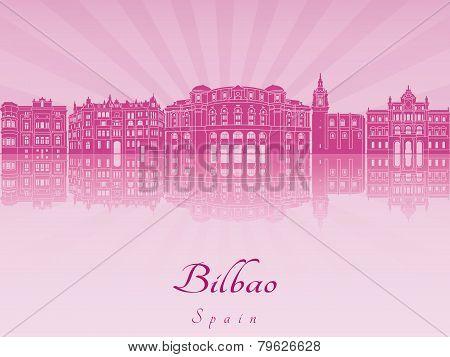 Bilbao Skyline In Purple Radiant Orchid