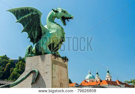 Ljubljana dragon, city symbol, Slovenia