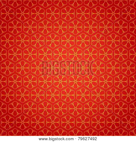 National chinese seamless pattern with flowers. Chinese new year 2015. Bright Beautiful  vector illu