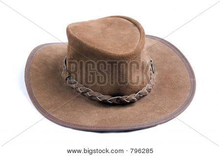 Brown cowboys hat