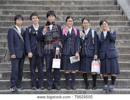 Japanese High School Students