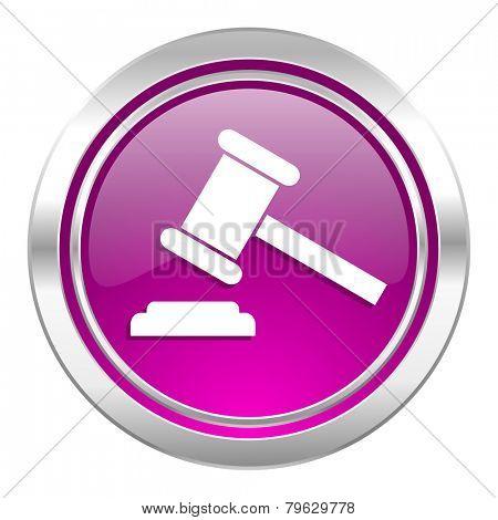 auction violet icon court sign verdict symbol