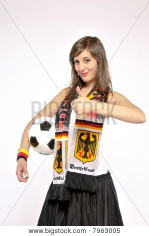 Supporter Woman For The German Soccer Team