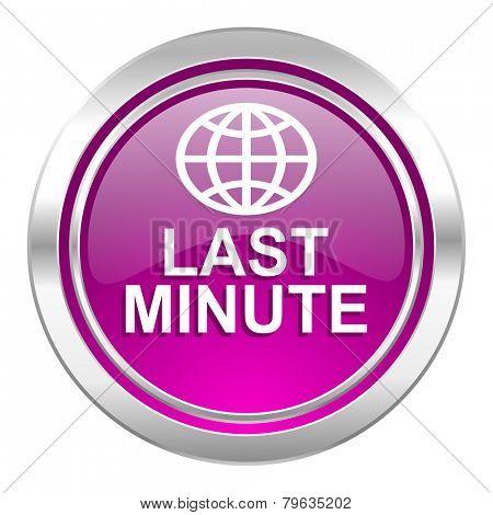 last minute violet icon