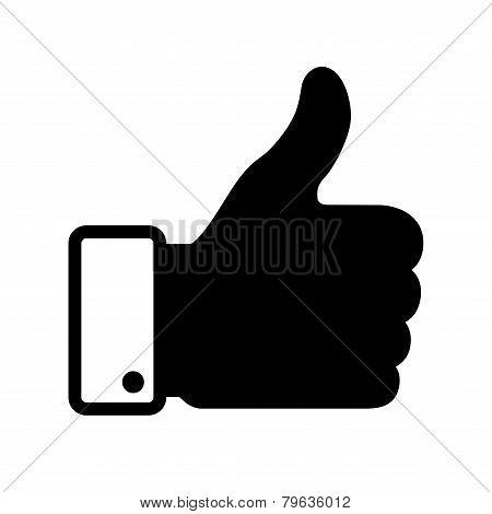 thumb up black icon