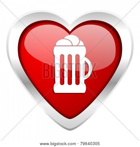 beer valentine icon mug sign