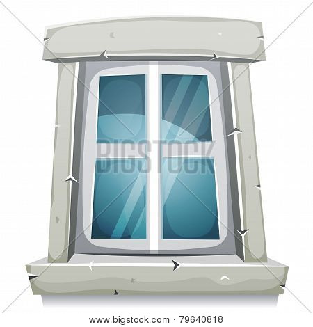 Cartoon Closed Window