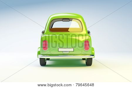 small retro car back