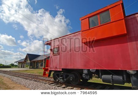 Red Railroad Caboose