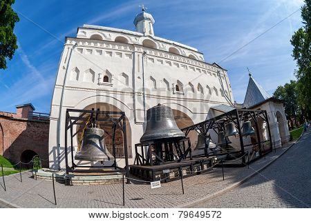 Bell Tower Of St. Sophia Cathedral In Novgorod Kremlin, Russia