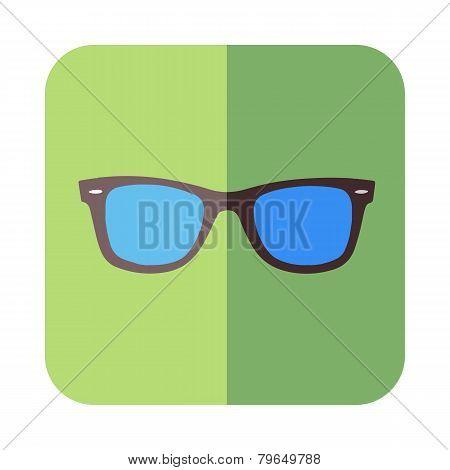 Glasses In Flat Design