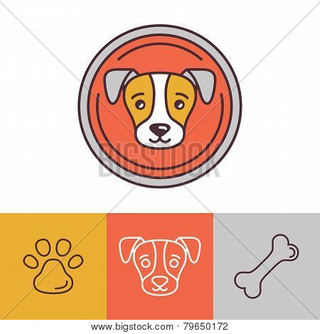 Vector Dog Icons And Logos