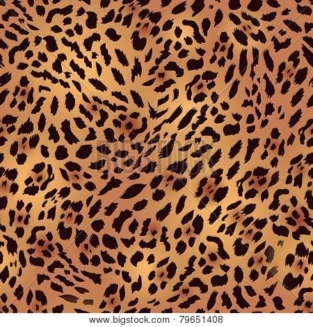 Safari leopard fur seamless vector print