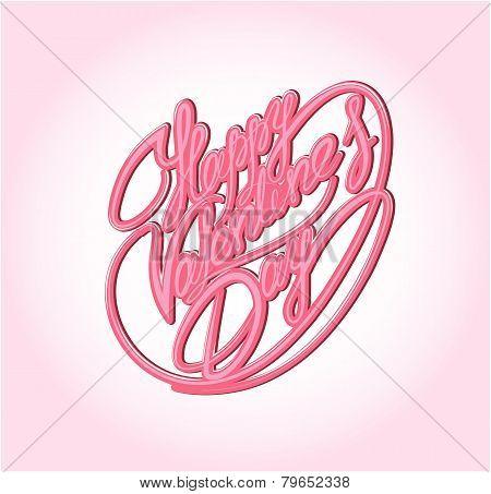 Happy Valentine`s Day. Calligraphic Element, Hand Written Text