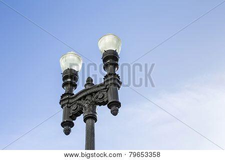 Old Replica Lantern Downtown Miami
