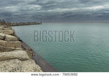 Lake Michigan breakwater