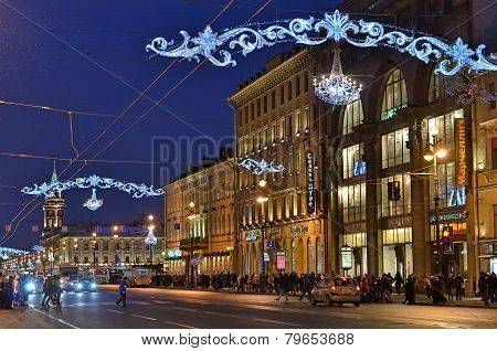 Nevsky Prospect In Saint Petersburg, Russia
