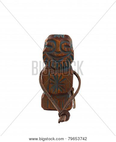 Carved Wooden Idol Is A Symbol Of Wealth, Prosperity And Well-being.