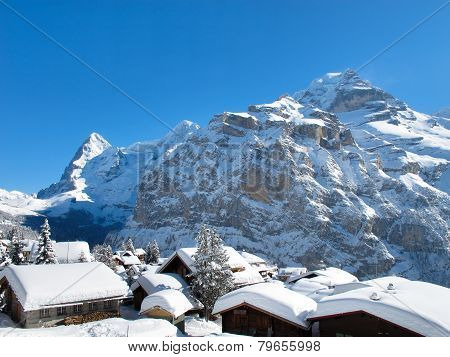 Muerren, Switzerland, in the Winter