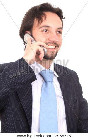 Empresario con un celular